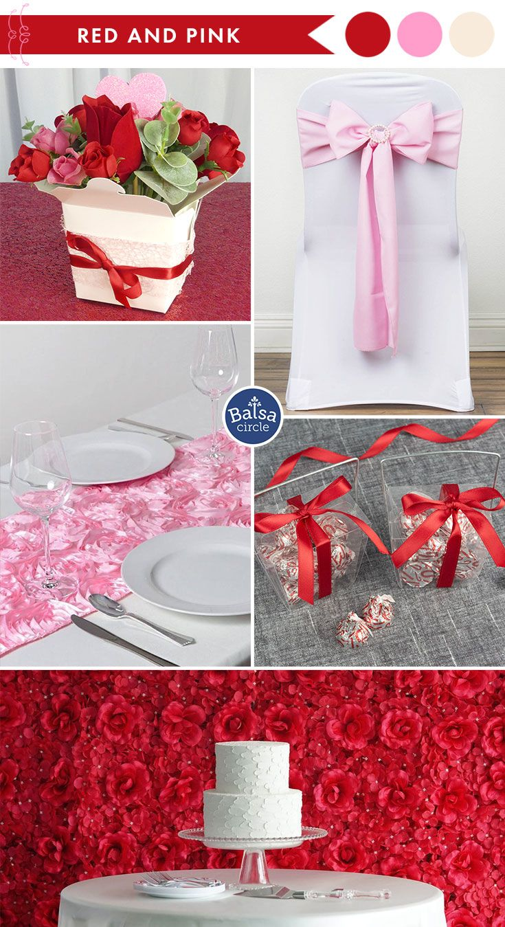 Red and pink color combination, perfect for a romantic ...
