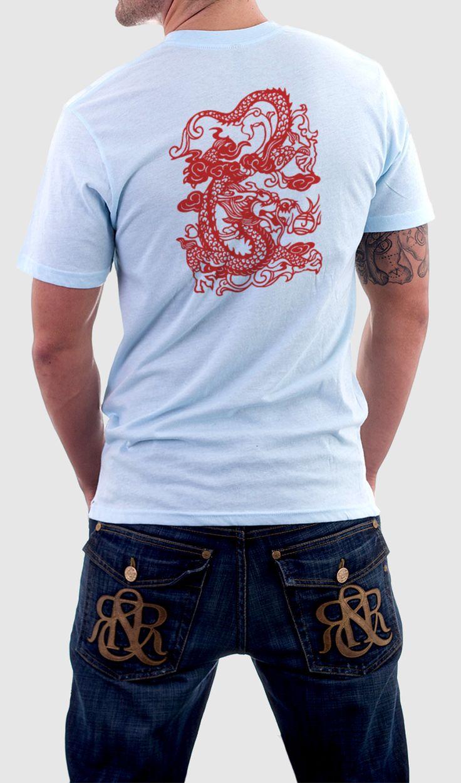 Camiseta dragón chino (Espalda)