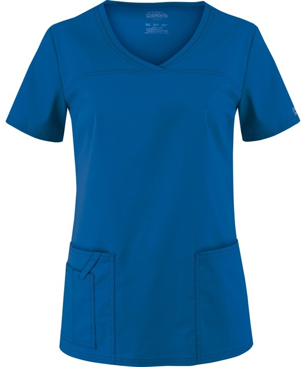 Cherokee Workwear STRETCH Scrubs V-Neck Top in Royal (Style # 4727)