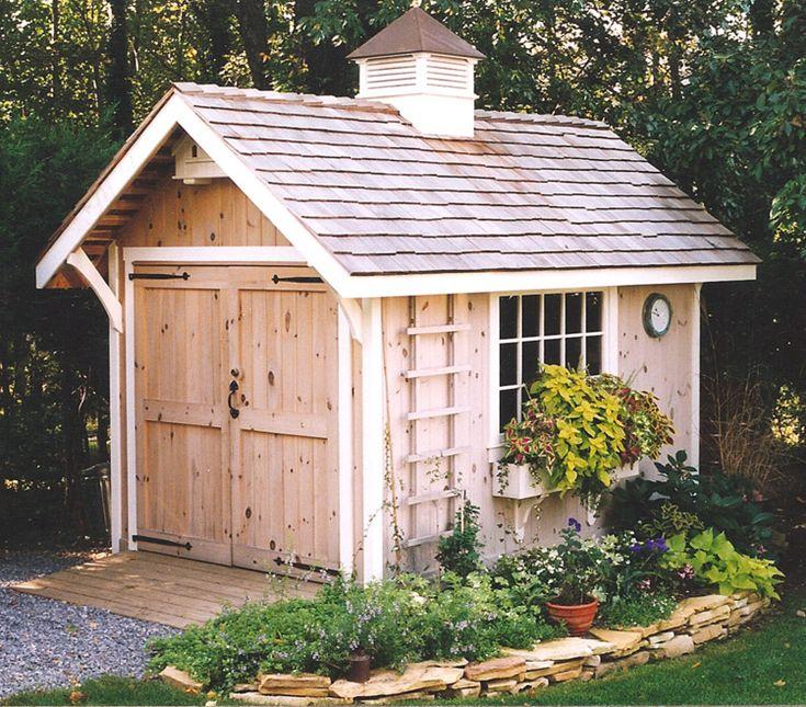 Nice Backyard Sheds : Great storage shed  Garden ShedsBack Yard Retreats  Pinterest