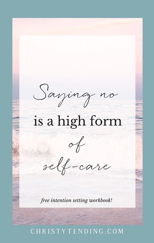 Boundaries are empathetic and good for you.  Saying no to what doesn't serve you is a high form of self-care. Plus, craft more of what you do want with my self-care workbook inside! >> www.christytending.com
