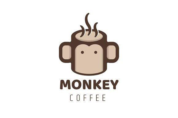 Monkey And Coffee Logo Monkey Coffee Com Imagens