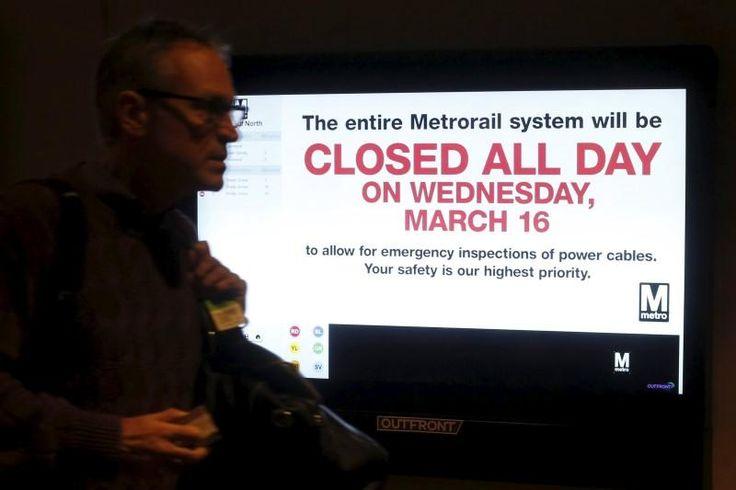 Washington Metro to shut down on Wednesday for safety checks | Reuters