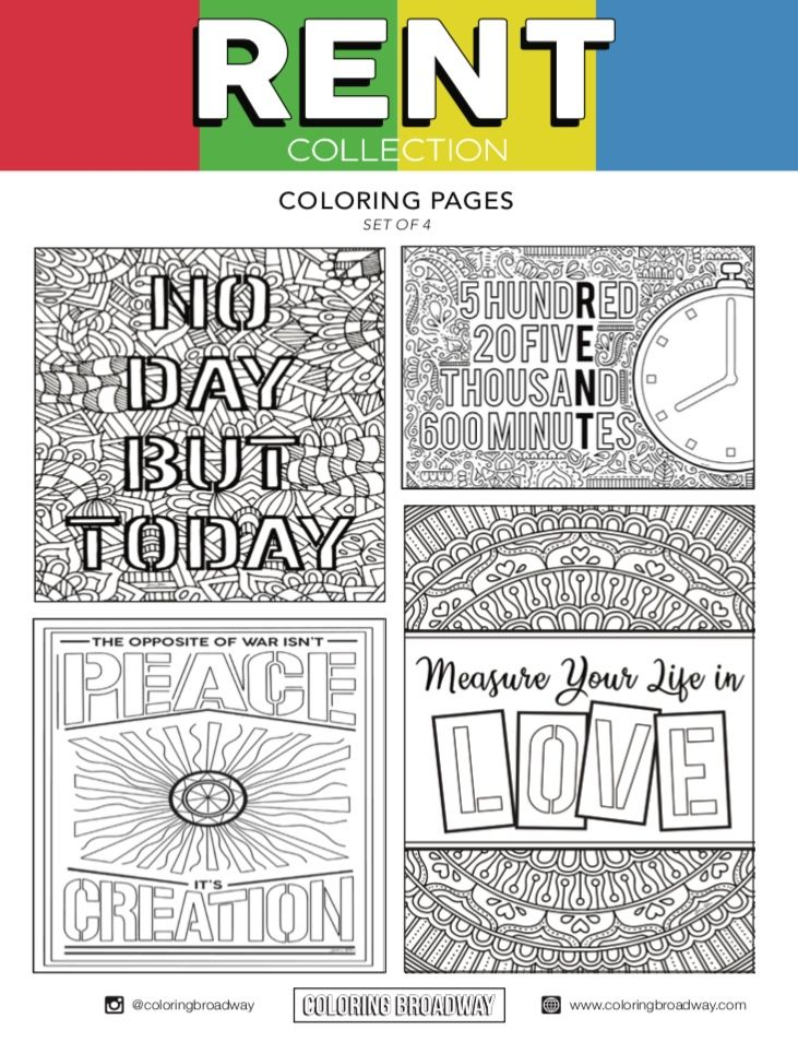 Rent - DIGITAL DOWNLOAD - Coloring Pages in 2020 ...