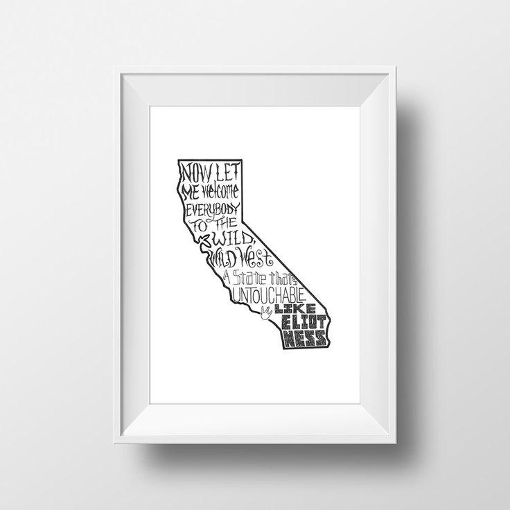 California Love - Tupac Shakur Dr. Dre Music Lyrics Print Song Gift