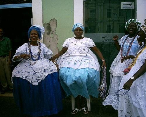 Salvador, Bahian dresses.