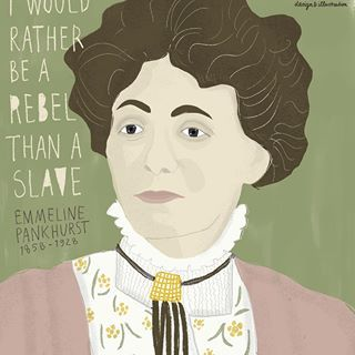 Suffragette Emmeline Pankhurst. She was one of the founders of the british sufragette movement.  💪 #womenhistorymonth #EmmelinePankhurst ©EstherMols