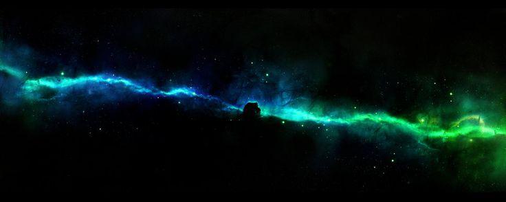Hluboký vesmír, mlhoviny, hvězdy vektor