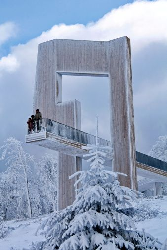Top of Erbeskopf (816 m), Hunsrück, Germany