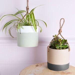 notonthehighstreet.com | Hanging Ceramic Planters | Urban Garden | Get The Look | Trend | Loft Living | Warehouse Home Design Magazine