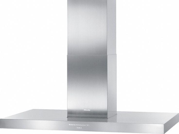 DA 424 V-6 EXT Puristic Varia - Insel-Dunstabzugshaube zur Kombination mit einem externen Gebläse zur Geräuschreduzierung in der Küche.--Edelstahl