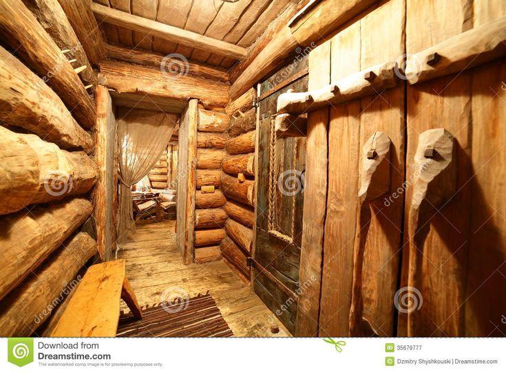 Interno Di Sauna Di Legno Russa Fotografia Stock Libera da Diritti - Immagine: 35679777