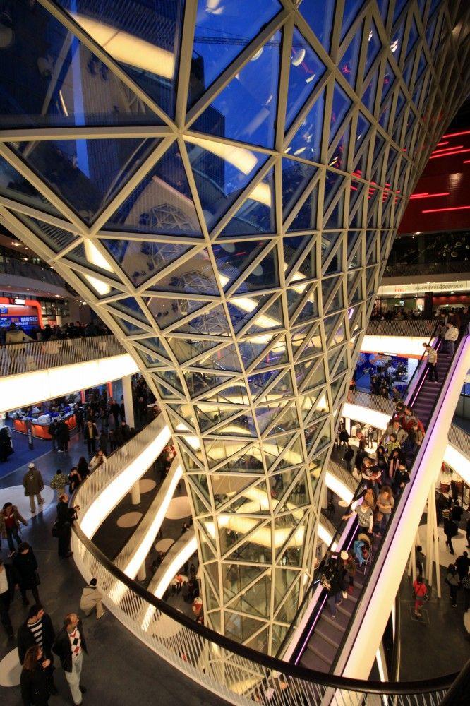 MyZeil Shopping Mall architects Studio Fuksas in Frankfurt, Germany