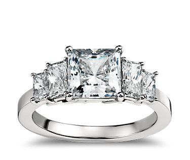 This is my most wanted ring yet….Four Stone Square Brilliant Diamond Engagemen