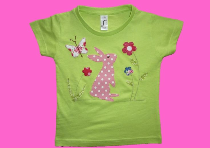 """T-Shirts - Kurzarm-Shirt """"Häschen"""" - ein Designerstück von Ribambella bei…"""