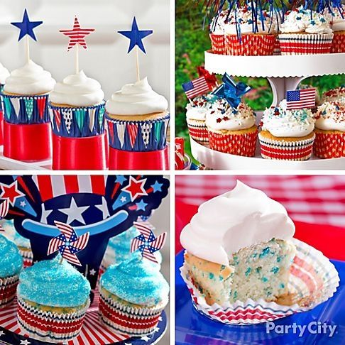 easy 4th of july cupcake ideas