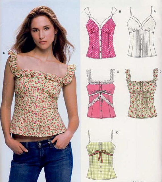 PLUS SIZE TOP Sewing Pattern ~ Six Misses Tops