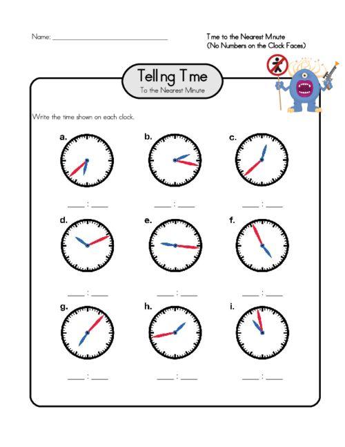 64 best Telling Time Worksheets images on Pinterest