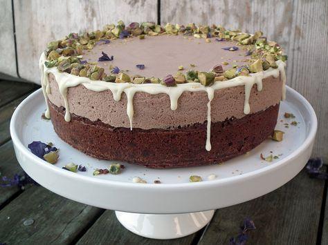 Brownie med sjokolademousse