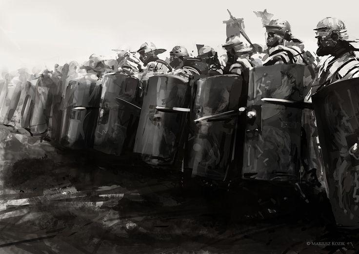 Soldiers of Rome., Mariusz Kozik on ArtStation at https://artstation.com/artwork/soldier-of-rome