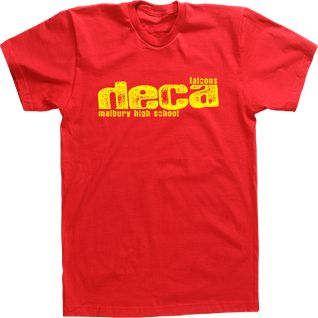 Custom T-shirt Tee Design High School DECA Club FBLA Business