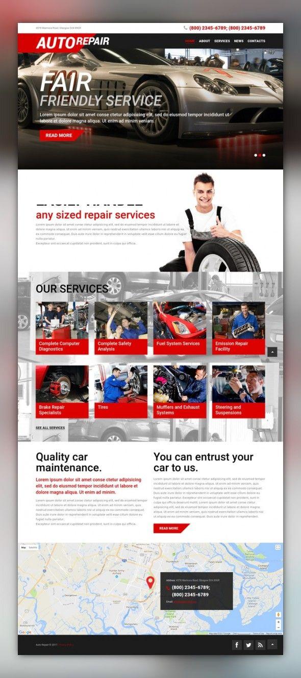Auto Repair Service Wordpress Theme 51907 Car Repair Service Auto Repair Repair