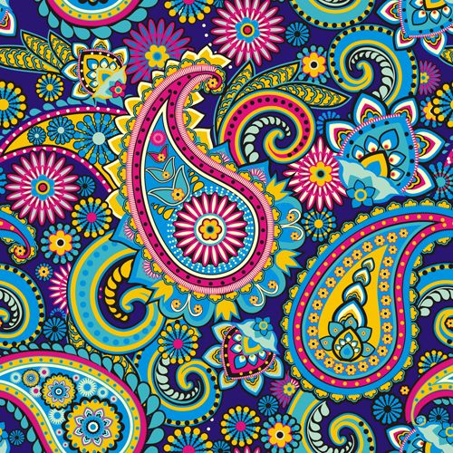 paisley pattern vector free download