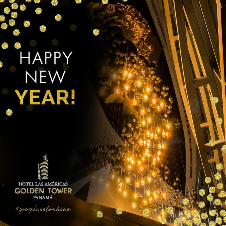 Feliz año nuevo les desea #yourplacetoshine en Ciudad de Panamá.  www.lasamericasgoldentower.com