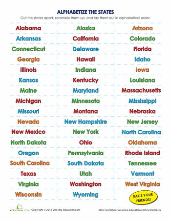 List of the 50 States in Alphabetical Order | The o'jays ...
