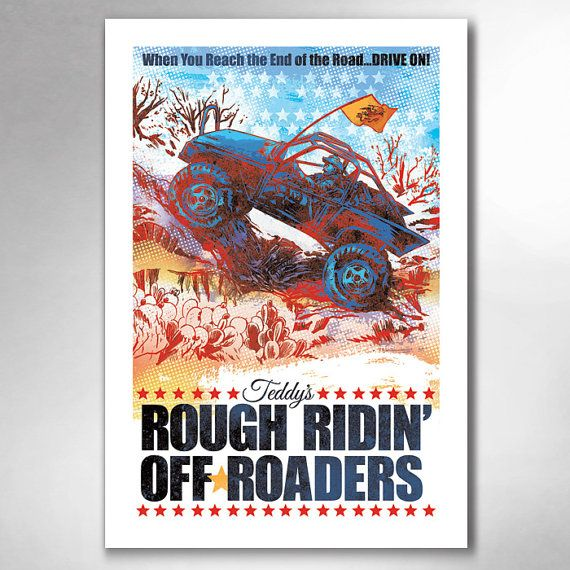 Teddys Rough Ridin Off-Roaders 13x19 Art Print by by RobOzborne