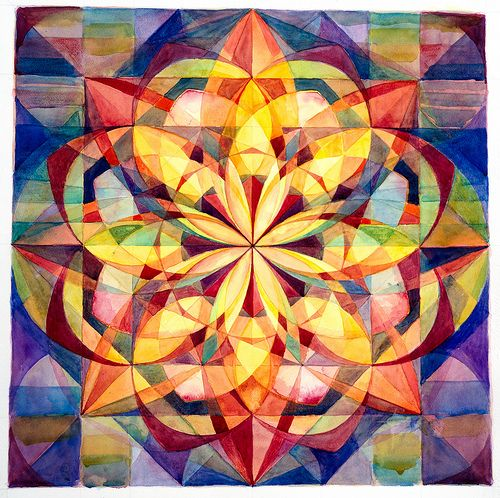 Unfolding Lotus Mandala by Esther Fuldauer