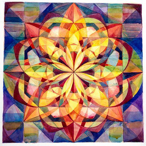 Unfolding Lotus Mandala by Esther Fuldauer