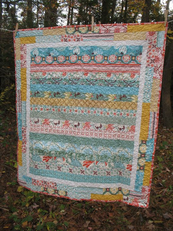 striped fandango baby quilt