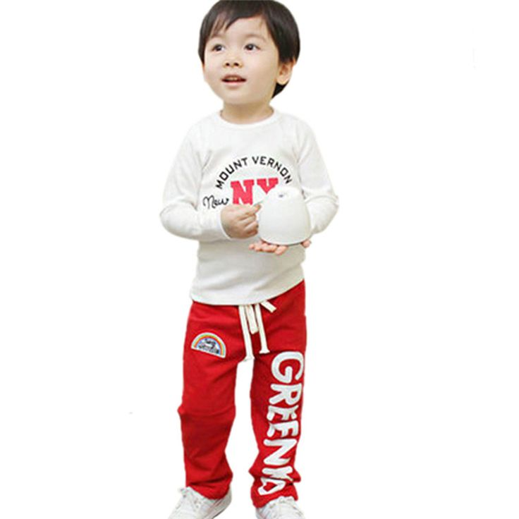 >> Click to Buy << Cotton Child Baby Boys Long Pants Trousers Casual Rainbow Pattern Cotton Bottoms 2-6Y #Affiliate