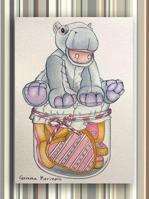 Hipopótamo con galletas. (Gemma Merinero)