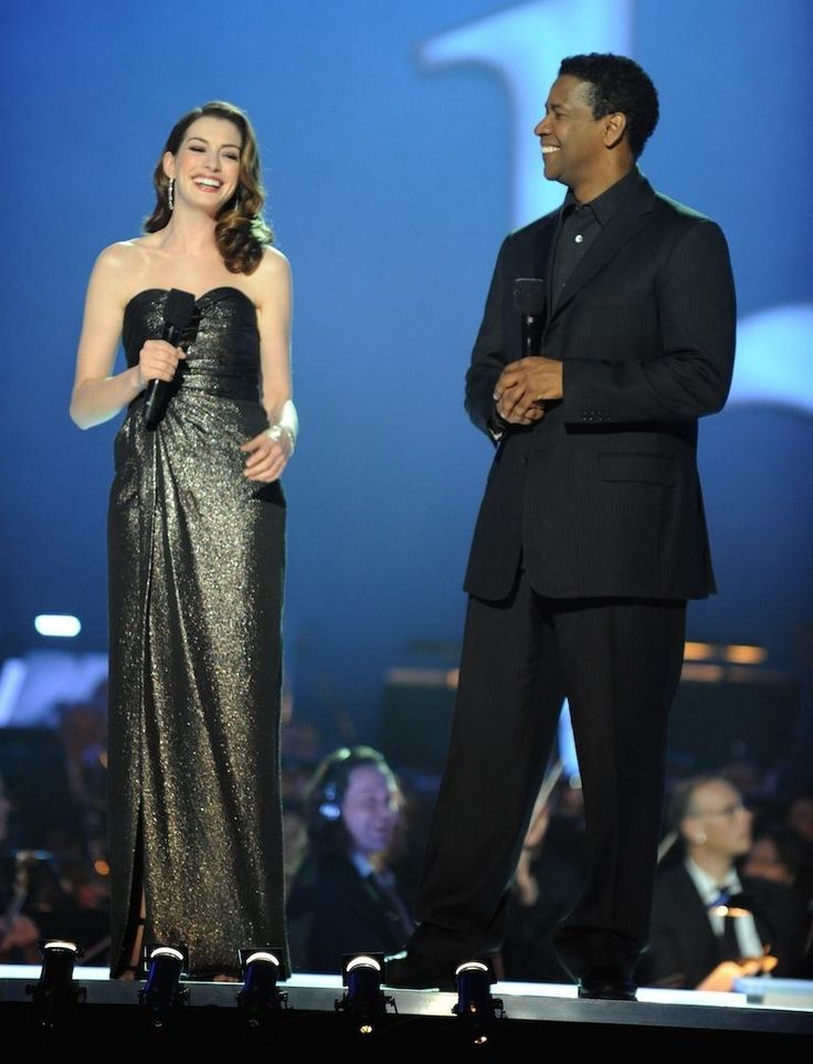 "When she was like, ""That's right Denzel, my dress is more beautiful than your never-aging face."""