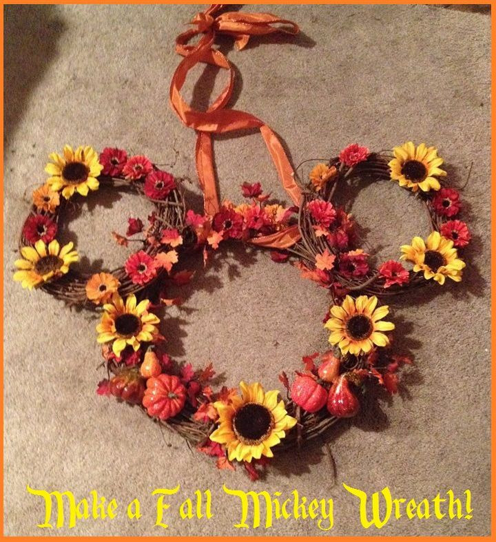 make a fall mickey wreath