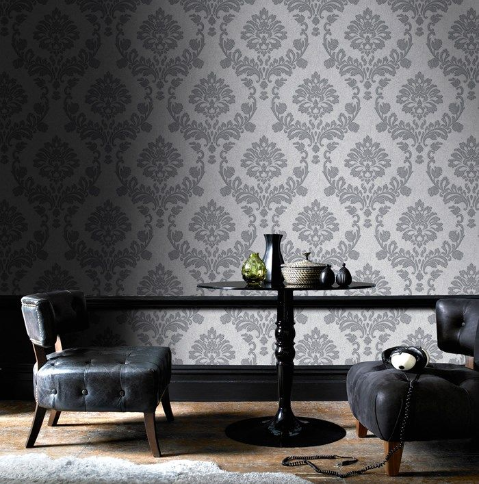 Dynasty Silver / Grey Wallpaper By Graham And Brown