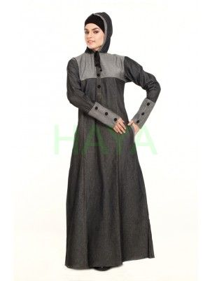 Cosy, comfy, classic and modest are the features that describe this winter abaya in denim. With simple design and neat cut, this abaya is sure to become your favourite outfit. Pick this winter abaya for $45.00