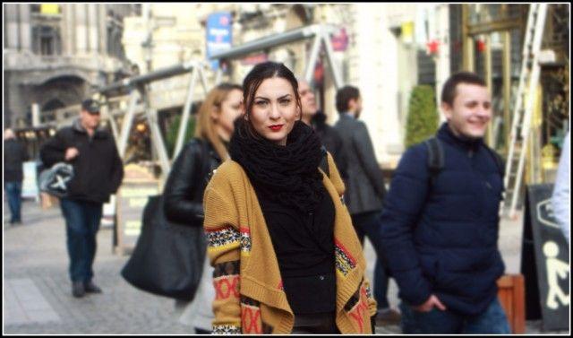 Casual look, aztec print, leather pants, OOTD, winter look