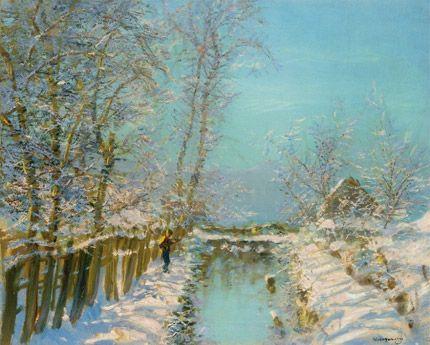 121 legszebb Mednyánszky festmény Téli verőfény