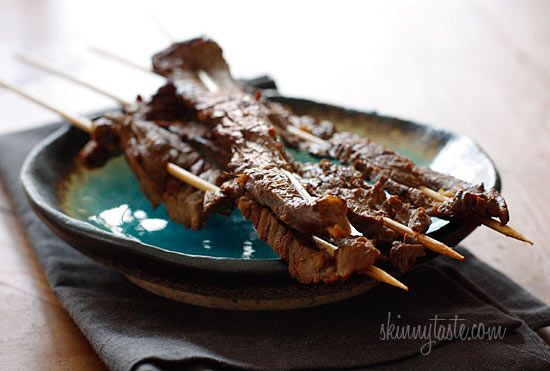 Asian Flank Steak Skewers      Ingredients:  1 1/2 lbs flank steak, sliced thin  1 1/2 cups reduced sodium soy sauce (Use Tamari for Gluten Free)  2 cloves minced garlic  1 tsp fresh ginger  1 tsp sesame oil  1 lime, juice of    Directions:        Soak wooden skewers in water about 30 minutes to prevent burning. Marinate the steak in all the ingred