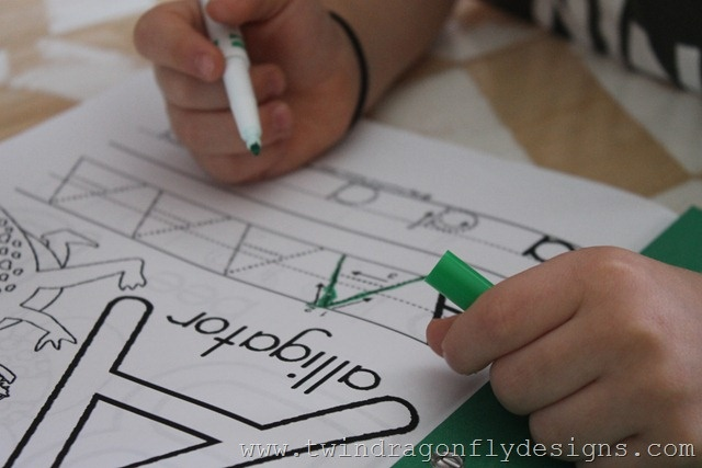 Preschool activity pages