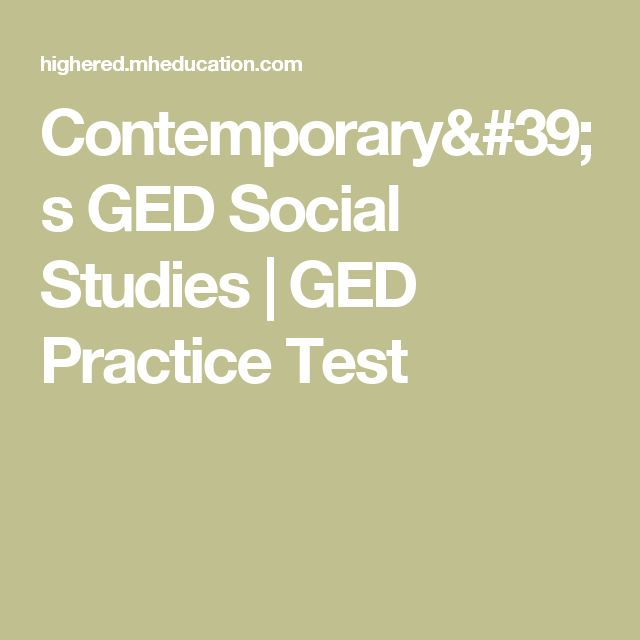 21 best ged images on pinterest high schools high school and high contemporarys ged social studies ged practice test fandeluxe Images