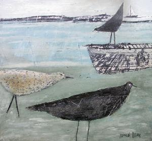 """I bought a Hannah Hann print - """"Nesting Rooks"""" - at a shop in Burnham Deepdale last week. If they had carried a print of this one, too, I would have been very torn."""