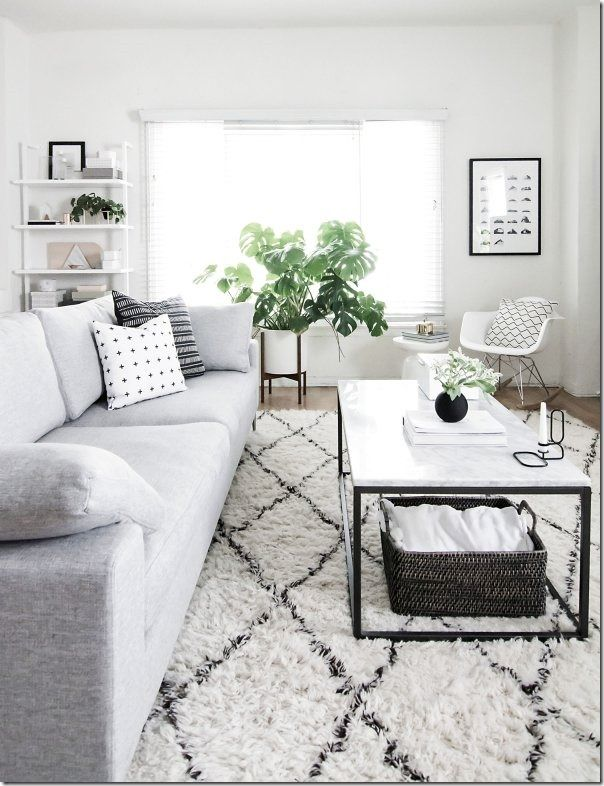Decorare il tuo soggiorno con il bianco colore bianco ...