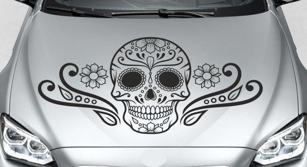 Aufkleber Auto Motorhaube Tribal Mexican Car Style Tattoo
