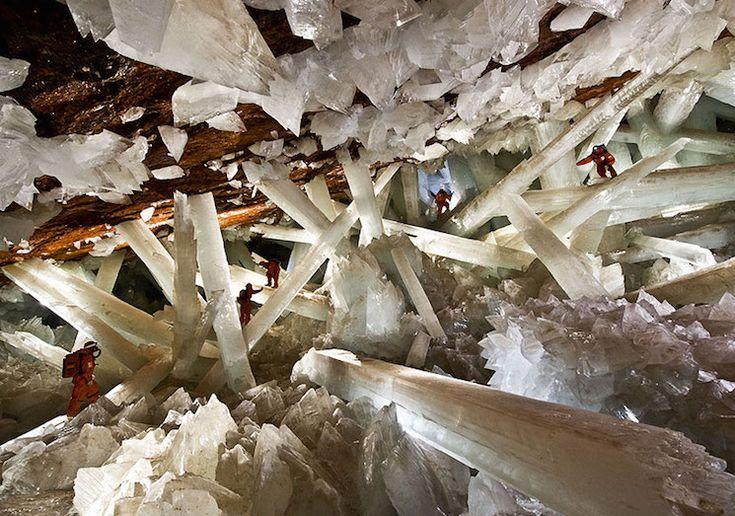 Хрустальные пещеры шахты Нэйка в Мексике