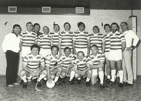 Celtic team who played Feyenoord in 1970 ECF anniversary rematch in 1980s.