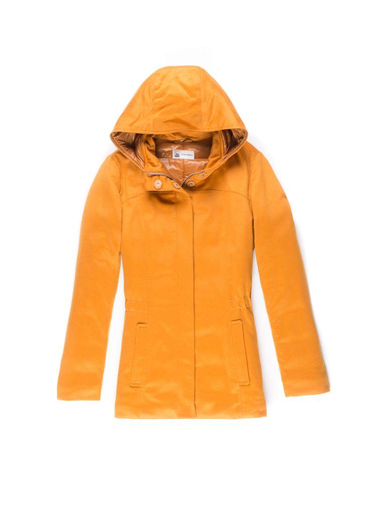 Giacca Piumino femminile in cashmere arancione -  Lanificio Colombo